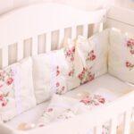 бортики для кровати с цветочками