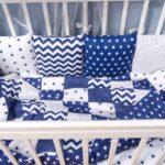 бортики для кровати синие
