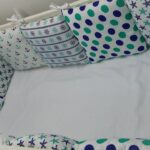бортики для кровати в горошек
