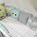 бортики для кровати пастельные