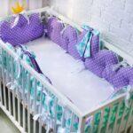 бортики для кровати фиолетовые