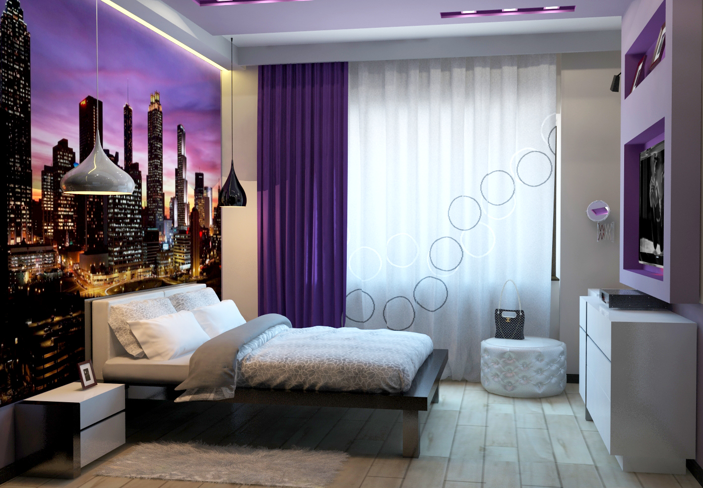 освещение в спальне фото