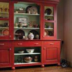 буфет кухонный красный
