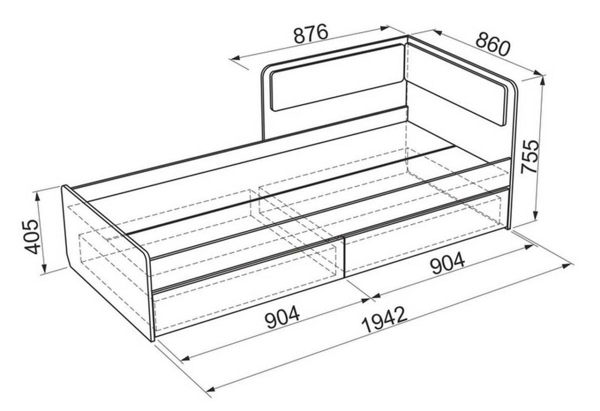 кровать из дсп детская чертеж