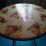 декупаж стола стекло