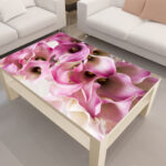 декупаж стола лилия