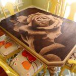 декупаж стола роза