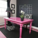 декупаж стола розовый