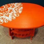 декупаж стола оранж