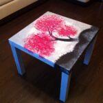 декупаж стола сакура
