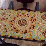 декупаж стола мозаика