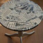 декупаж стола газета