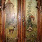 красивая роспись шкафа