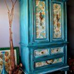 декор синего шкафа