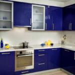 кухня синяя