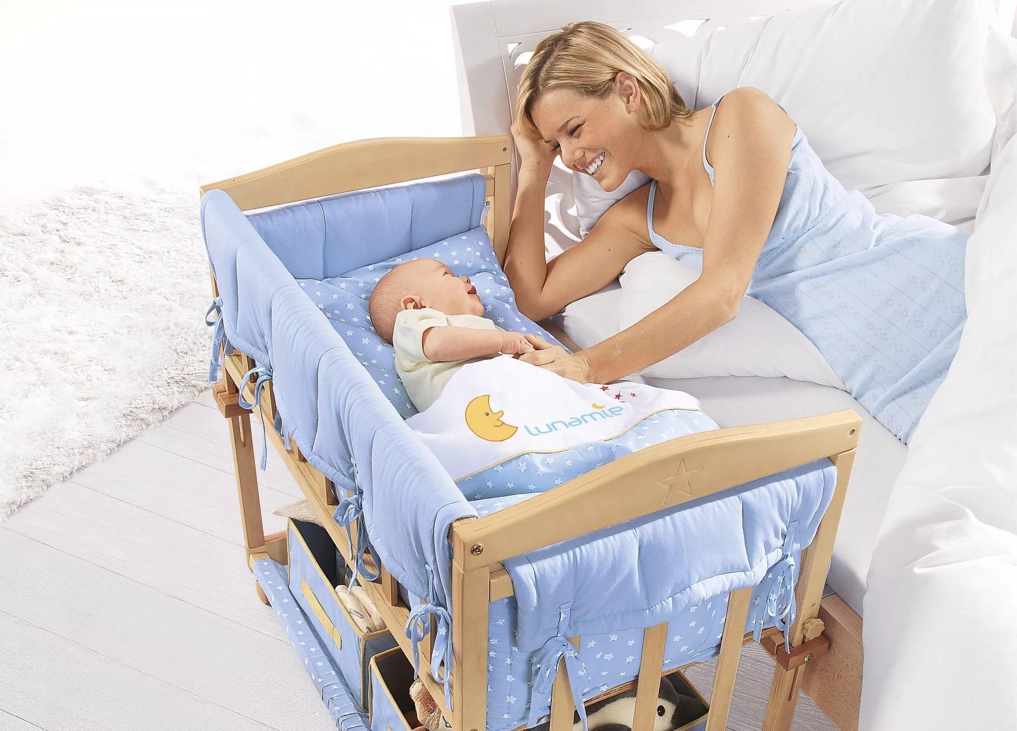 детская кровать близко к родителям