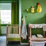 детская кровать зеленая