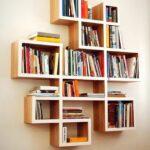 прямоугольные дизайнерские полки для книг