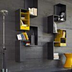 черно-желтые стильные дизайнерские полки