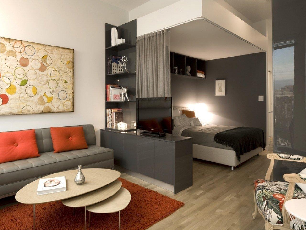 зонирование однокомнатной квартиры обоями фото всего