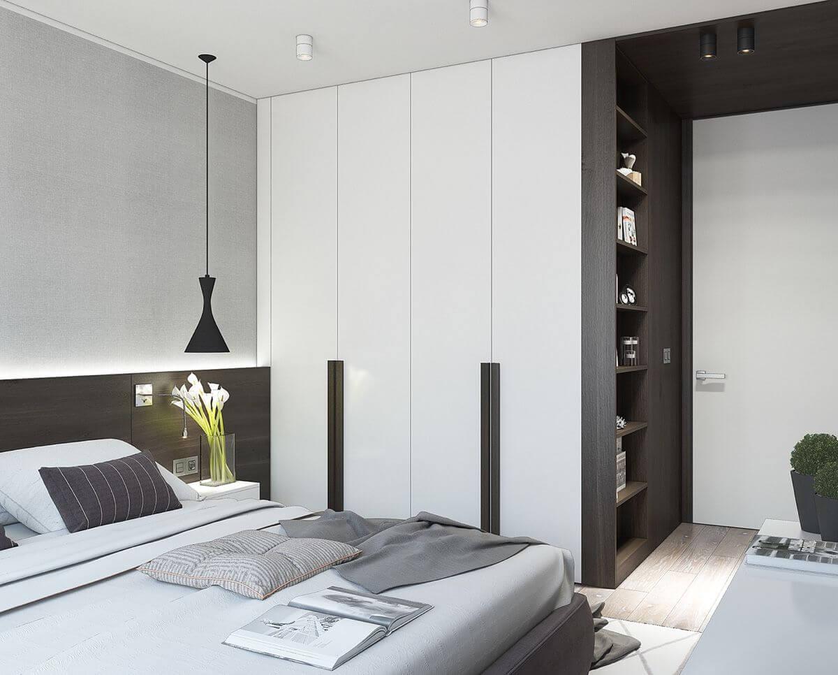 встроенная спальня фото модерн основе