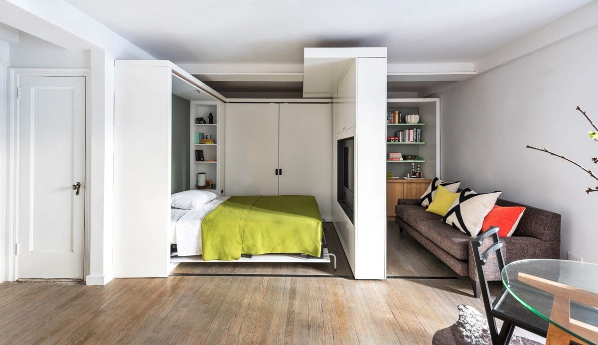 Кровать для однокомнатной квартиры фото инете