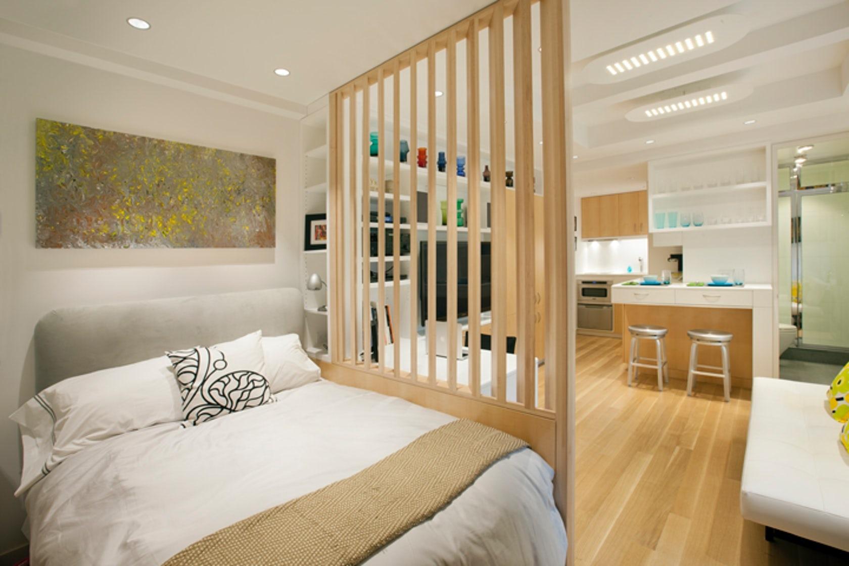 Кровать для однокомнатной квартиры фото мой