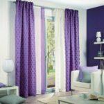 бело-фиолетовые двухцветные шторы