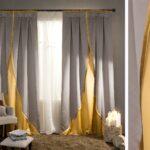 желто-серые двухцветные шторы