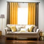желто-коричневые двухцветные шторы