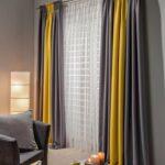 двухцветные шторы желтые с темно-серым