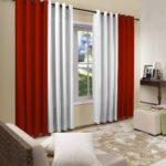 бело-красные двухцветные шторы
