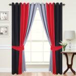 серо-красно-черные шторы