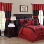 красно-черные двухцветные шторы