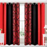 черно-красные шторы