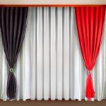 шторы черного и красного цвета