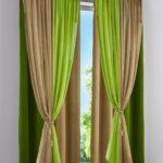 бежево-оливковые шторы