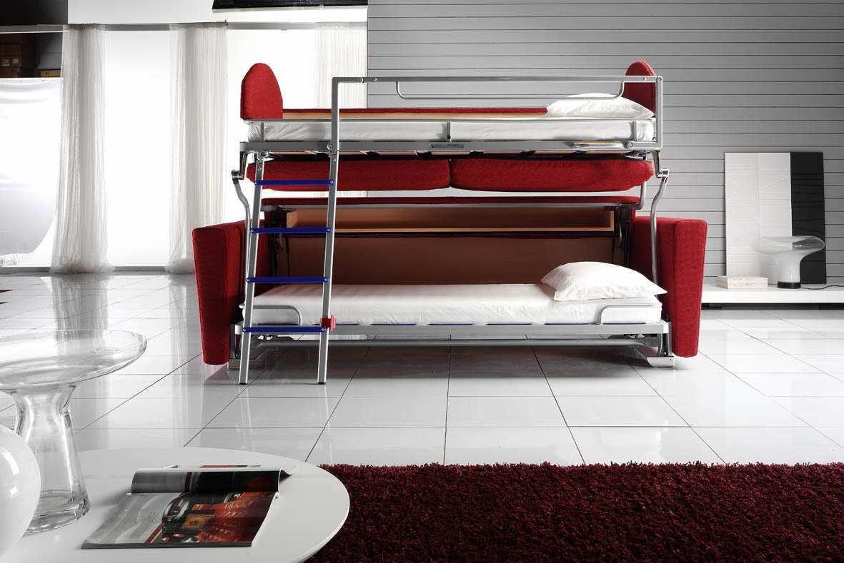 размещение дивана -трансформера