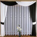 двухцветные шторы черный с белым