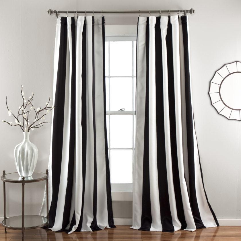 фото черно-белых штор