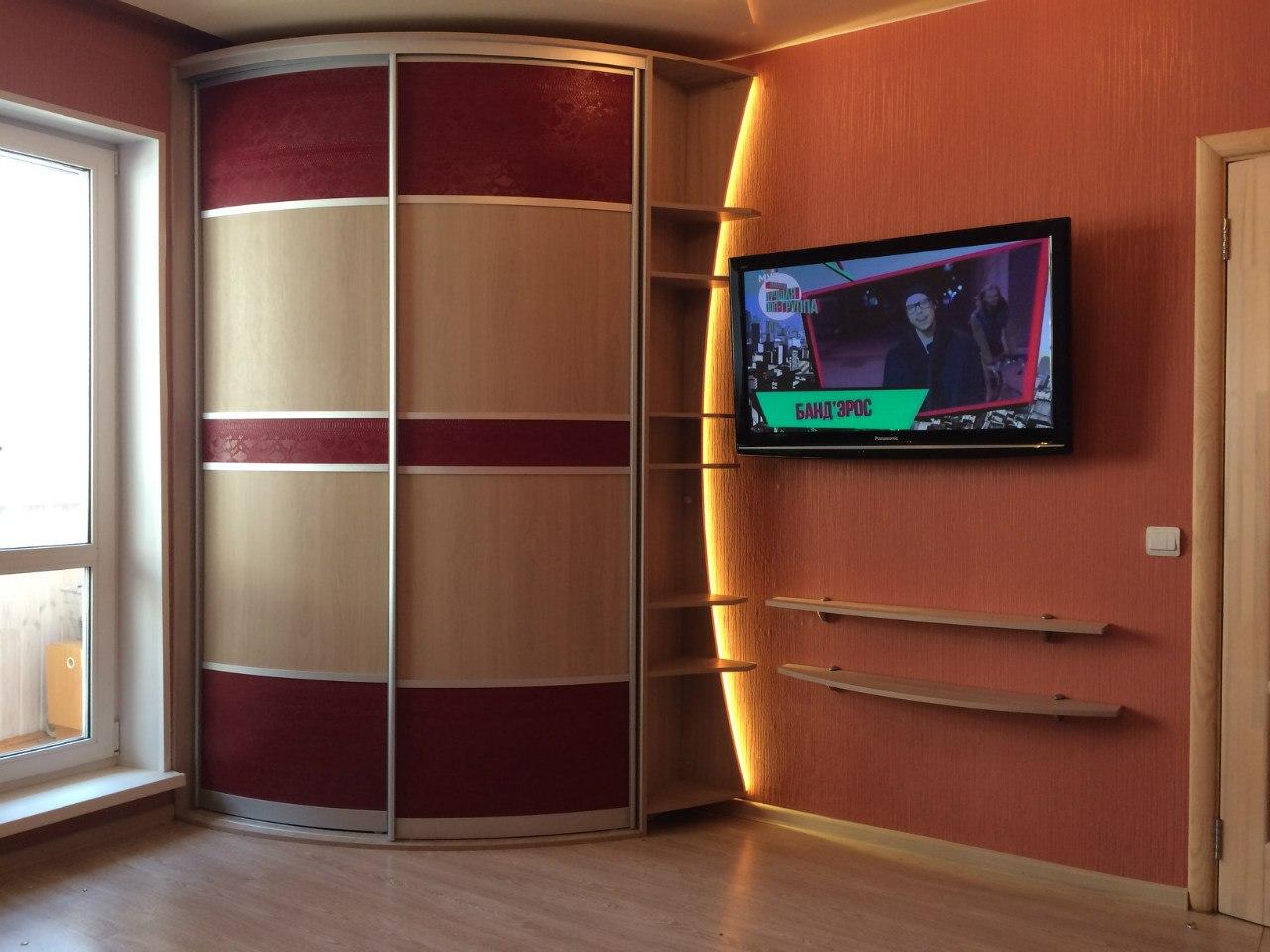радиусные шкафы в интерьере
