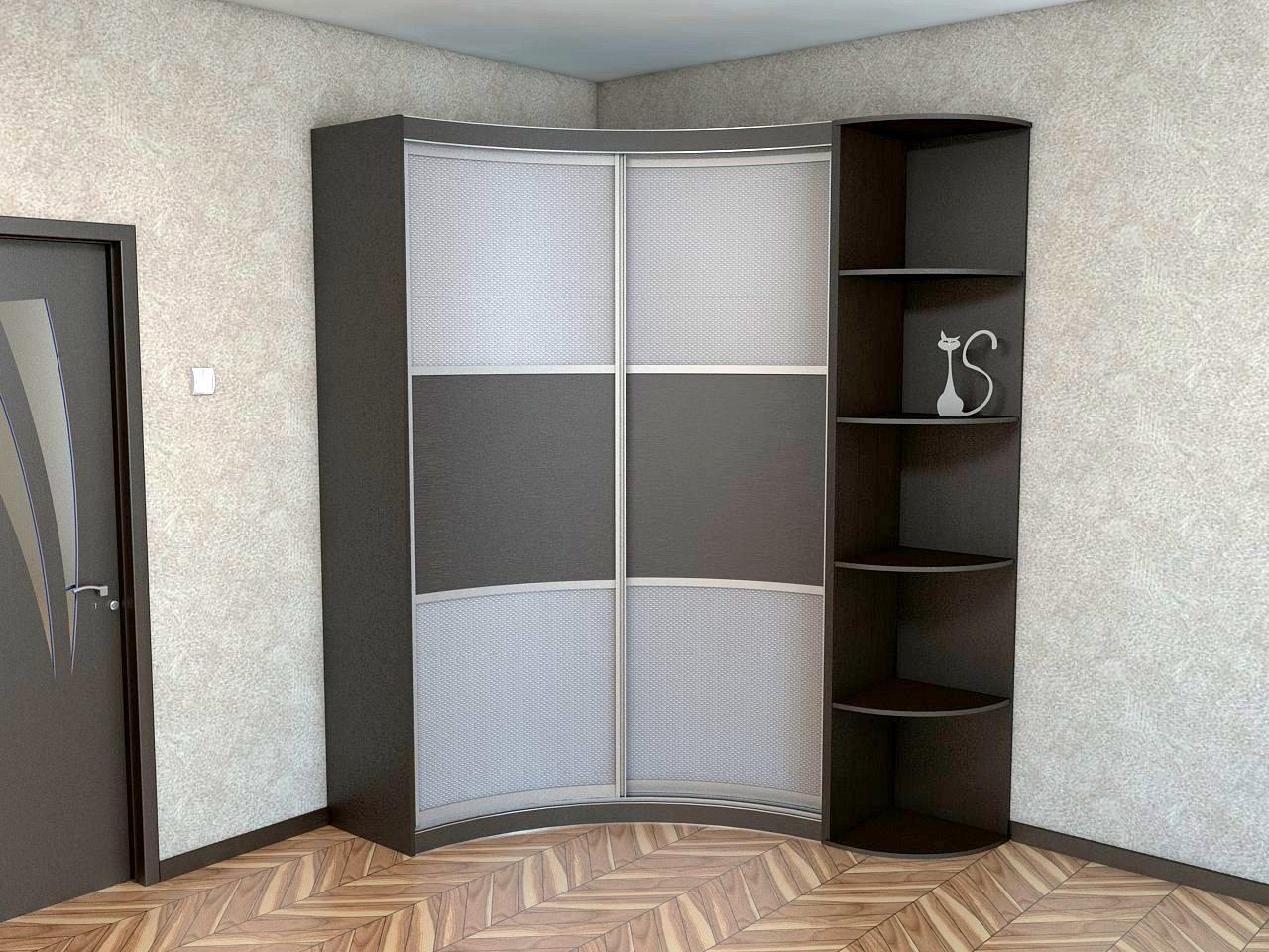 вогнутый шкаф в прихожей