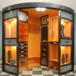 радиусный шкаф оранжевый