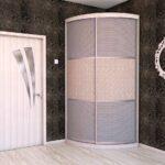 радиусный шкаф серый