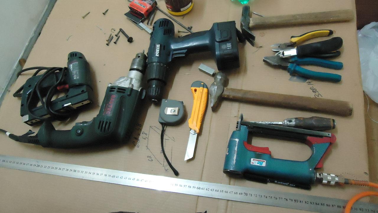 инструменты для изготовления буфета