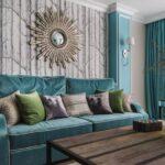 голубые шторы для гостиной