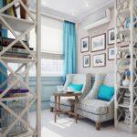 бирюзово-голубые шторы