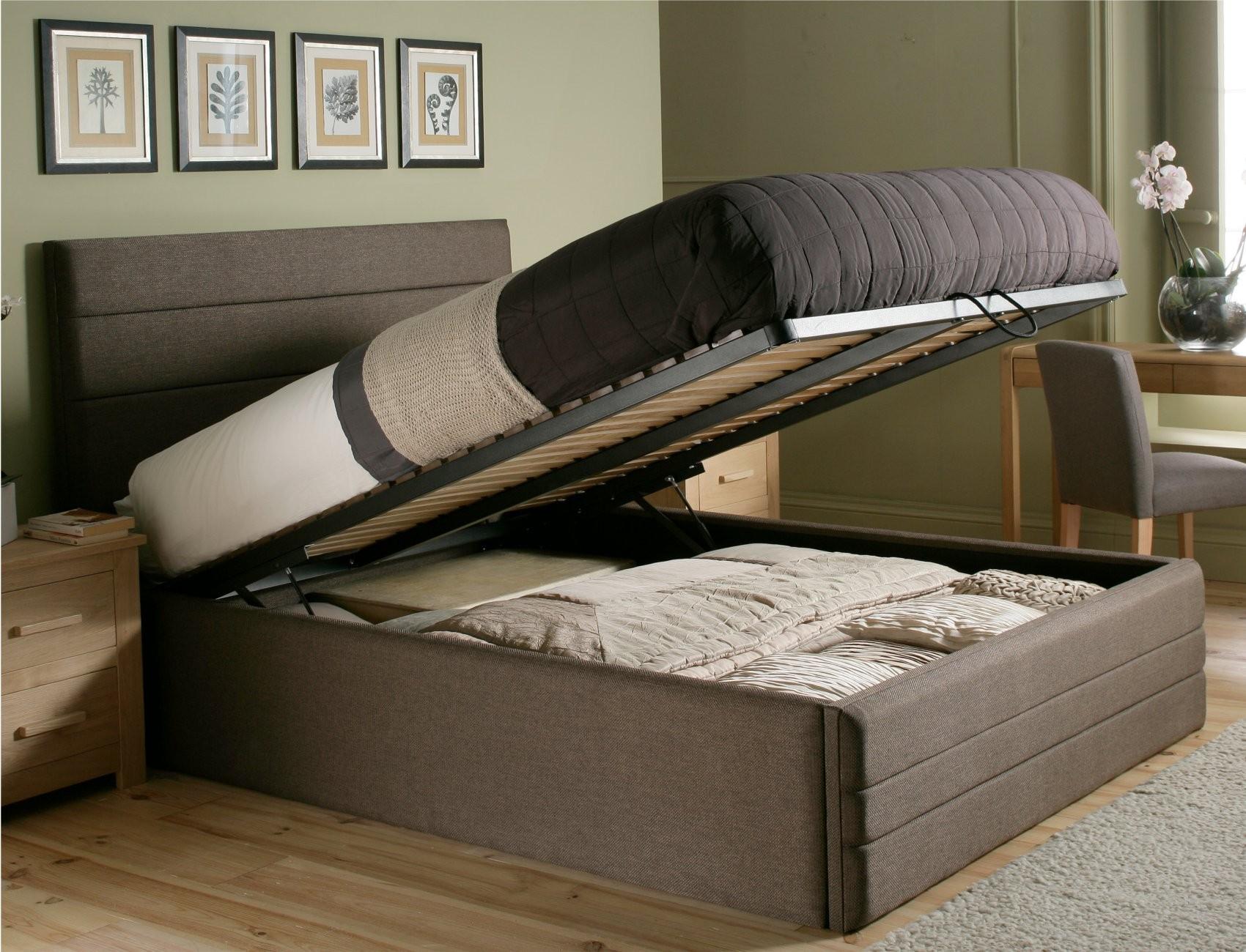хранение белья в кровати