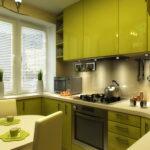 кухня маленькая зеленая