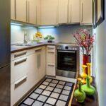 кухня маленькая пол в клетку
